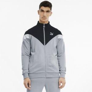 Олимпийка Iconic MCS Mens Track Jacket PUMA. Цвет: серый