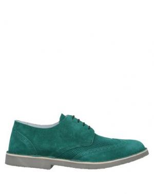 Обувь на шнурках ANGELO NARDELLI. Цвет: зеленый