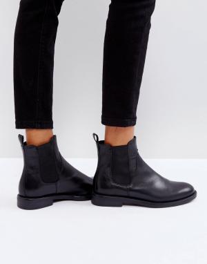 Черные кожаные ботинки челси Amina-Синий Vagabond