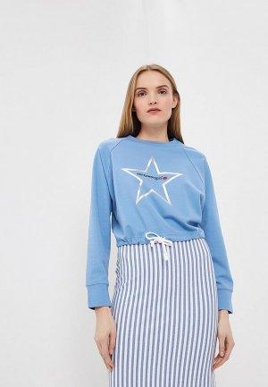 Свитшот Terekhov Girl. Цвет: голубой