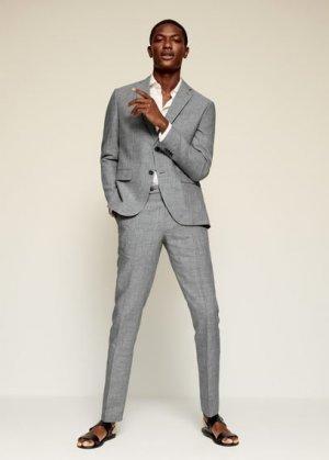 Костюмный пиджак slim fit изо льна - Florida Mango. Цвет: серый