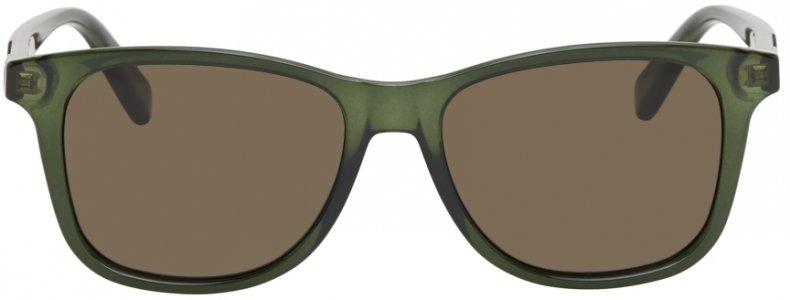 Green Transparent Acetate Rectangular Sunglasses Gucci. Цвет: 003 green