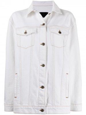 Джинсовая куртка SIR.. Цвет: белый