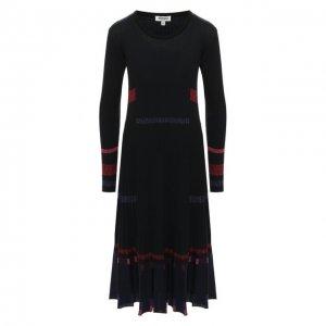Платье-миди Kenzo. Цвет: чёрный