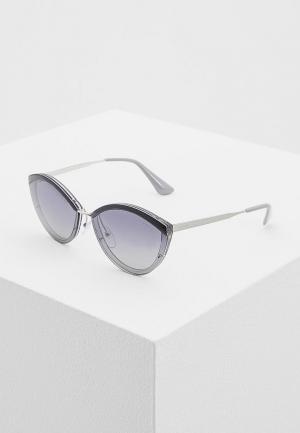 Очки солнцезащитные Prada PR 07US KI53A0. Цвет: серый