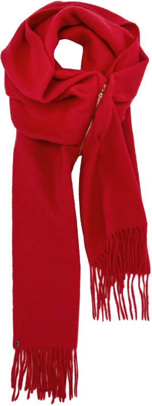 Red Cashmere Zip Scarf Bless. Цвет: red
