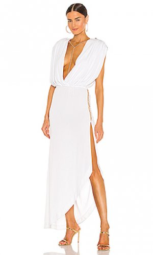 Платье миди florence retrofete. Цвет: белый