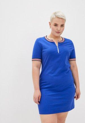 Платье El Fa Mei. Цвет: синий
