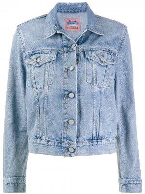 Джинсовая куртка кроя слим Acne Studios. Цвет: синий