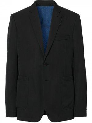 Однобортный пиджак Burberry. Цвет: черный