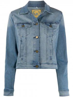 Джинсовая куртка на пуговицах Michael Kors. Цвет: синий