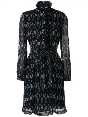 Printed Deneuve Dress Tory Burch. Цвет: синий