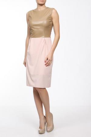 Платье C.H.I.C.. Цвет: бежевый