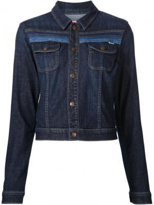 Джинсовая куртка с полосатой отделкой Mother. Цвет: синий