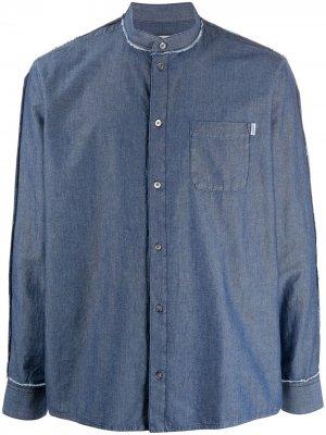 Рубашка с длинными рукавами и принтом Golden Goose. Цвет: синий