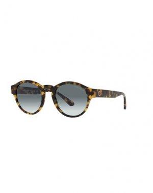 Солнечные очки GIORGIO ARMANI. Цвет: темно-коричневый
