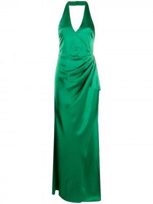 Присборенное платье Alice+Olivia. Цвет: зеленый