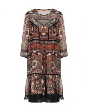 Короткое платье ALBA CONDE. Цвет: кирпично-красный