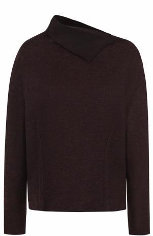 Кашемировый пуловер с отложным воротником Kiton. Цвет: бордовый