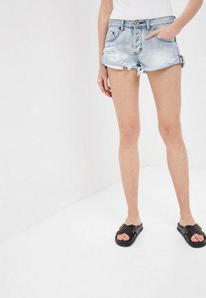 Шорты джинсовые One Teaspoon BANDITS. Цвет: голубой