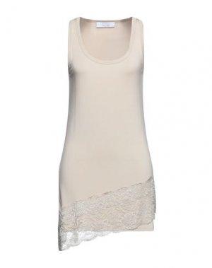 Короткое платье KAOS. Цвет: бежевый