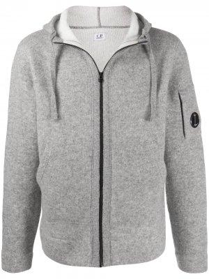 Трикотажная куртка на молнии C.P. Company. Цвет: серый