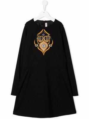 Embroidered maxi dress Emilio Pucci Junior. Цвет: черный