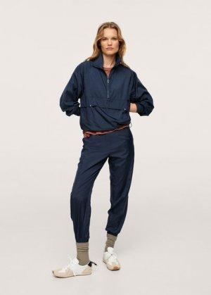 Непромокаемые спортивные брюки - Gilda1 Mango. Цвет: синяя ночь