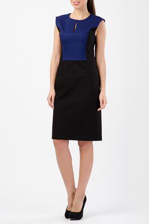 Платье TUZUN. Цвет: синий, черный