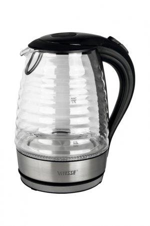 Чайник электрический 1,7л Vitesse. Цвет: черный, серебряный