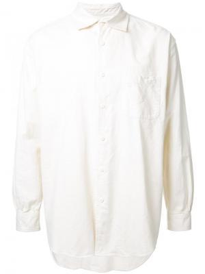 Фланелевая рубашка свободного кроя Gold. Цвет: белый