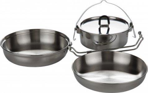 Набор посуды: котелок, сковорода, миска CAMP SET REGULAR Tatonka. Цвет: серебристый