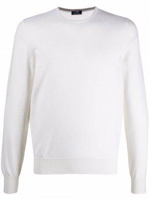 Crew neck mélange sweater Barba. Цвет: белый