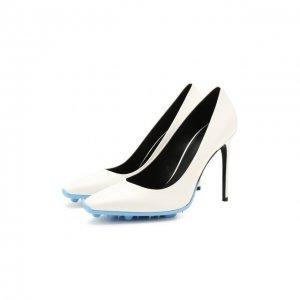 Кожаные туфли Off-White. Цвет: белый