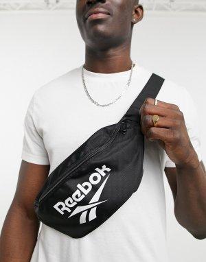 Черная сумка-кошелек на пояс Classics-Черный цвет Reebok