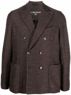 Двубортный пиджак Circolo 1901. Цвет: коричневый