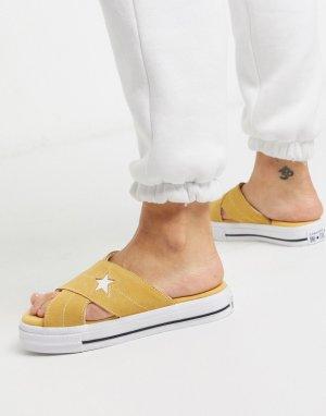Желтые сандалии one star-Желтый Converse