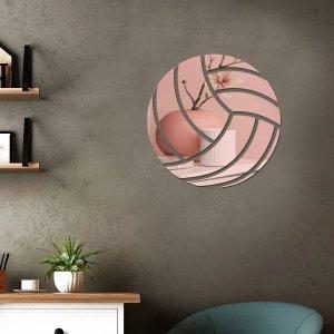 1 набор Наклейка на стену с зеркальной поверхностью в форме волейбола SHEIN. Цвет: розовое золото