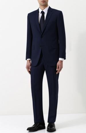 Шерстяной костюм с пиджаком на двух пуговицах Lanvin. Цвет: темно-синий