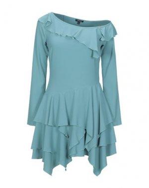 Короткое платье DENNY ROSE. Цвет: бирюзовый