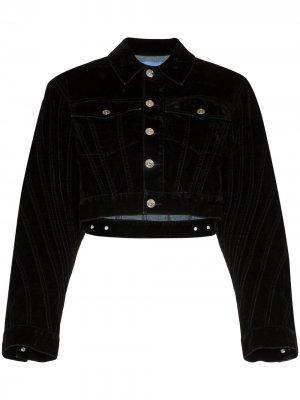 Укороченная джинсовая куртка Mugler
