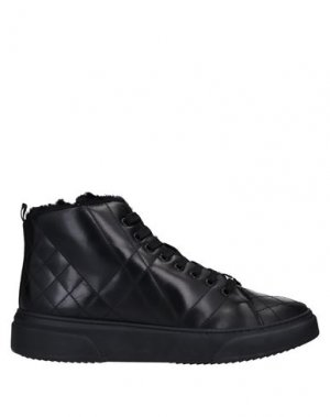 Высокие кеды и кроссовки BALDININI. Цвет: черный