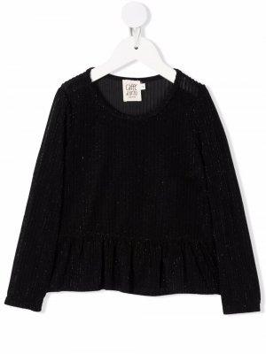 Caffe Dorzo Edda metallic-threaded blouse Caffe' D'orzo. Цвет: черный