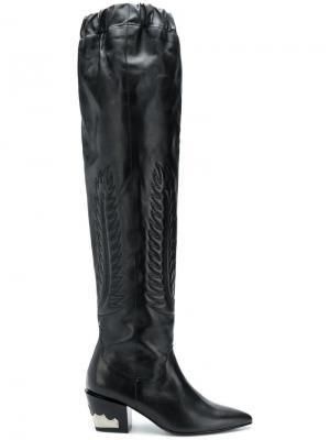 Ботфорты с заостренным носком Toga Pulla. Цвет: черный