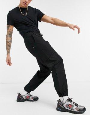 Черные брюки в стиле милитари -Черный Hi-Tec