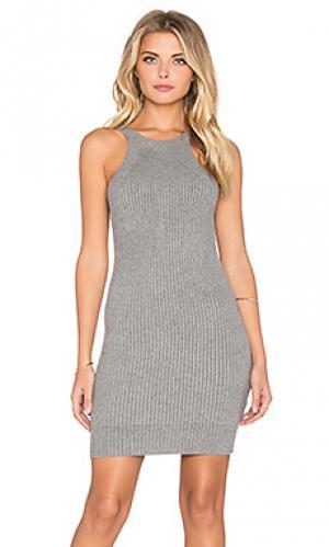 Мини платье без рукавов GLAMOROUS. Цвет: серый