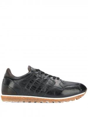 Кроссовки с перфорацией Alberto Fasciani. Цвет: черный