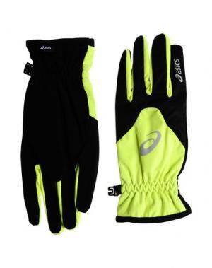Перчатки ASICS. Цвет: кислотно-зеленый