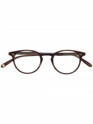 Очки Winward в круглой оправе Garrett Leight. Цвет: коричневый