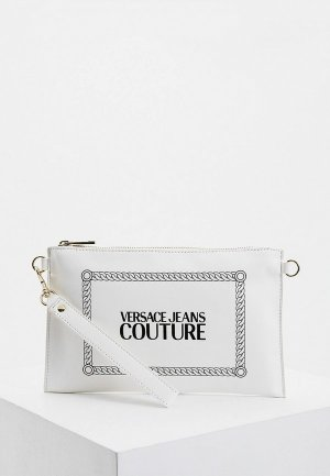 Клатч Versace Jeans Couture. Цвет: белый